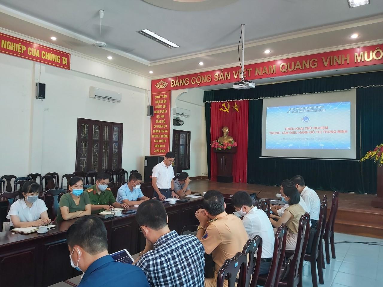 Sáng 07/7/2021, Hội nghị triển khai thử nghiệm Trung tâm điều hành đô thị thông minh tại Hải Phòng.