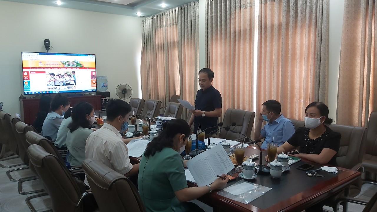 Chiều ngày 15/7/2021, Sở GD&ĐT tiếp Đoàn kiểm tra của Sở KH&CN về hoạt động xây dựng, áp dụng, duy trì, cải tiến Hệ thống quản lý chất lượng theo TCVN ISO 9001:2015.