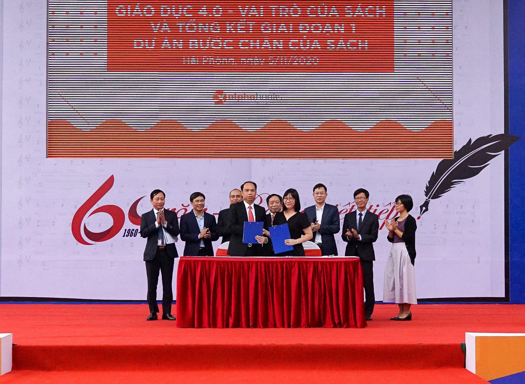 Hội nghị ký kết biên bản hợp tác giữa Sở GD&ĐT Hải Phòng và VTV7 Đài truyền hình Việt Nam