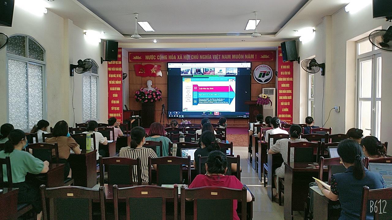 Tập huấn kế hoạch giáo dục của nhà trường thực hiện chương trình gdpt 2018