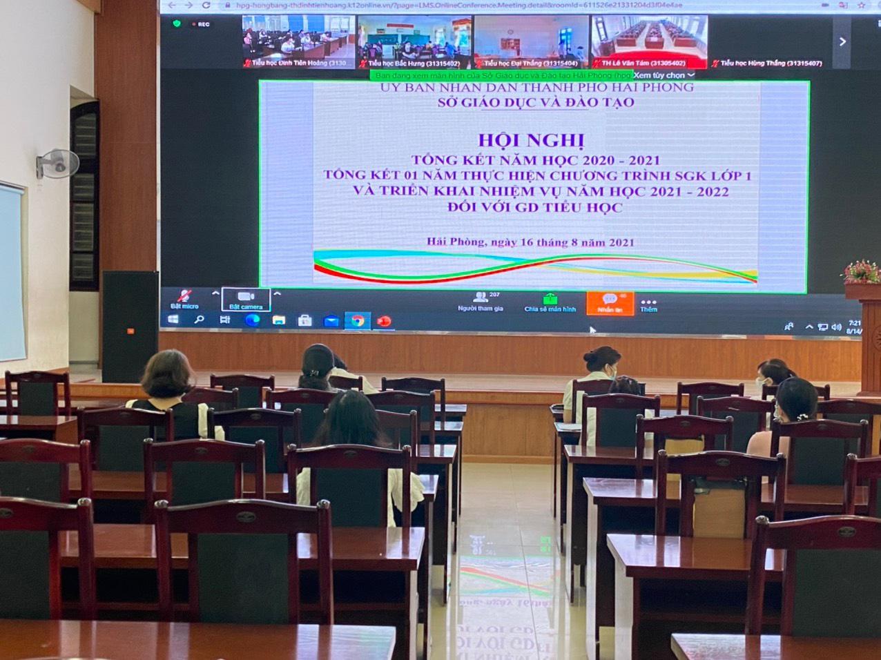 Tổng kết năm học 2020-2021, tổng kết chương trình sgk lớp 1; triển khai nhiệm vụ năm học 2021-2022 đối với giáo dục tiểu học