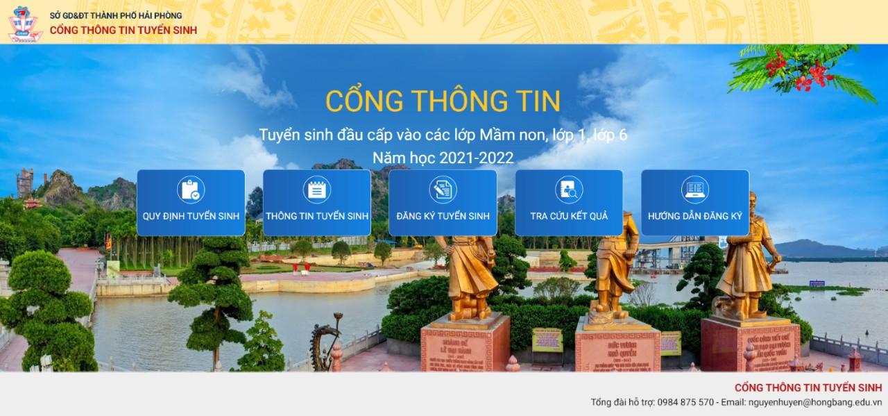 GD&ĐT Hồng Bàng tiên phong ứng dụng công nghệ thông tin trong tuyển sinh đầu cấp.