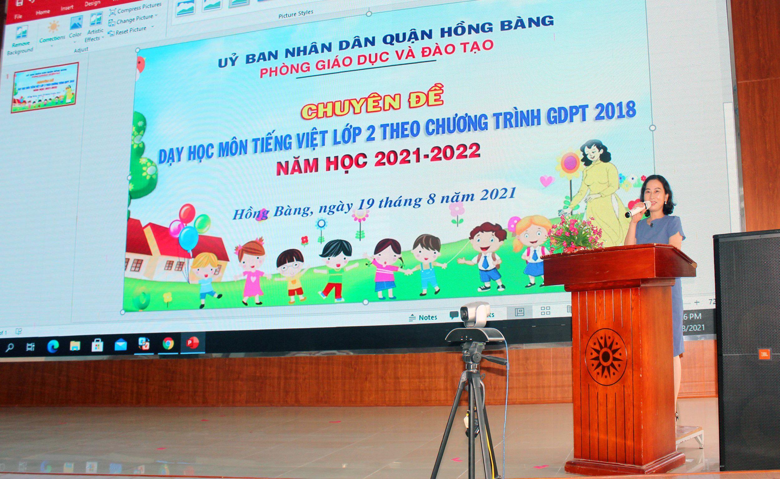 Bồi dưỡng chuyên môn môn Tiếng Việt lớp 2 Chương trình GDPT 2018 năm học 2021-2022.